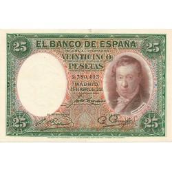 25 Pesetas del 25 de Abril de 1931