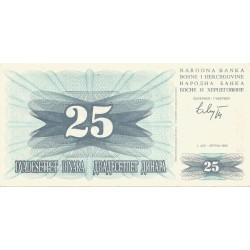 25 Dinares de 1992