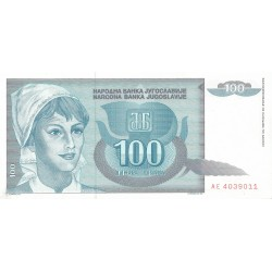 100 Dinares 1992