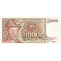 20000 Dinares de 1987