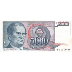 5000 Dinares de 1985