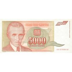 5000 Dinares de 1993