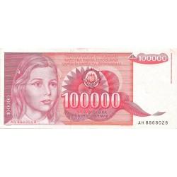 100000 Dinares de 1989