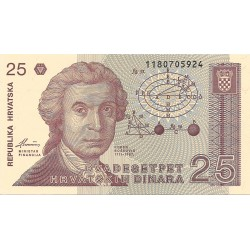 25 Dinares de 1991