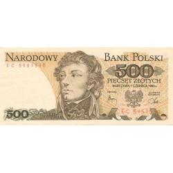 500 Zlotys de 1982