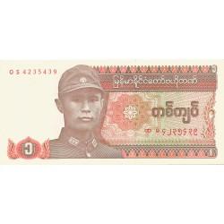 1 Kyat de 1990