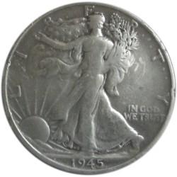 Medio Dólar de Plata de 1945