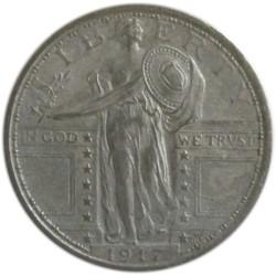 ¼ de Dólar de Plata de 1917