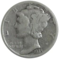 1 Dime de 1935-45