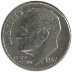 1 Dime de 1947