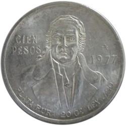100 Pesos de 1977