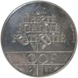 100 Francos de 1987