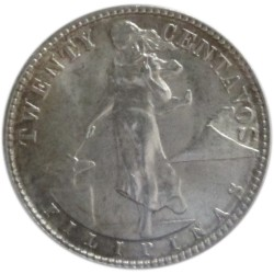 20 Centavos de 1945 D