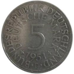 5 Marcos de 1951 F
