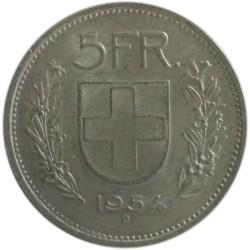 5 Francos de 1954 B