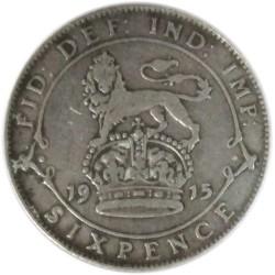 6 Peniques de 1915