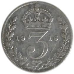 3 Peniques de 1916