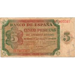 5 Pesetas  del 10 de Agosto de 1938