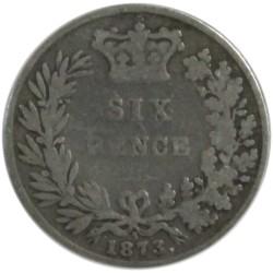 6 Peniques de 1873