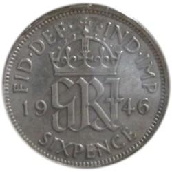 6 Peniques de 1946
