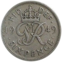 6 Peniques de 1949
