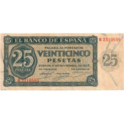 25 pesetas del 21 de Noviembre de 1936