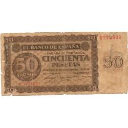 50 pesetas del 21 de Noviembre de 1936