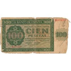 100 pesetas del 21 de Noviembre de 1936