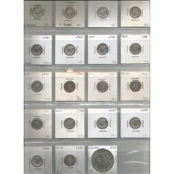 Monedas EEUU y Noruega Plata