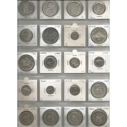 Monedas Canadá,Holanda y México Plata