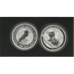 Moneda Australia kookaburra 2015-koala 2015