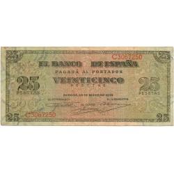 25 Pesetas del 20 de Mayo de 1938