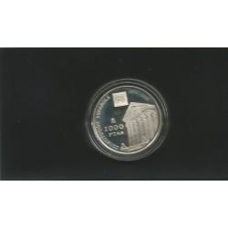 Moneda 1000 Ptas año 1998 20 Aniversario Constitución Española