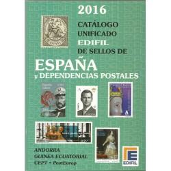 Catálogo Sellos Edifil 2016 España,Andorra y Guinea Ecuatorial CEPT-PostEurop