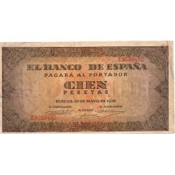 100 Pesetas del 20 de Mayo de 1938