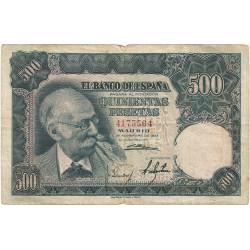 500 Pesetas del 15 de Noviembre de 1951