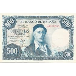 500 Pesetas del 22 de Julio de 1954