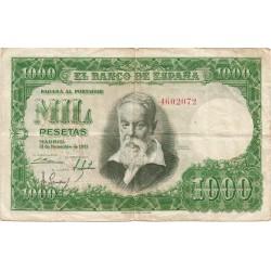 1000 Pesetas del 31 de Diciembre de 1951