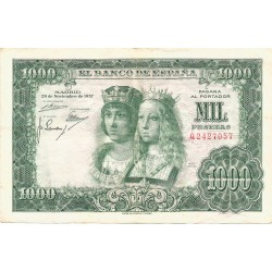 1000 Pesetas del 29 de Noviembre de 1957