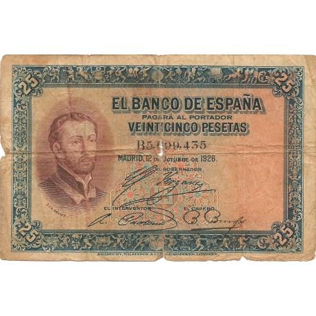 25 pesetas del 12 octubre 1926