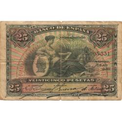 25 Pesetas del 15 de Julio de 1907