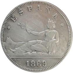 2 pesetas de 1869