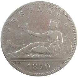 2 pesetas de 1870