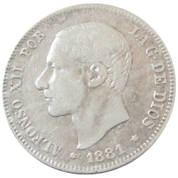 2 pesetas de 1881