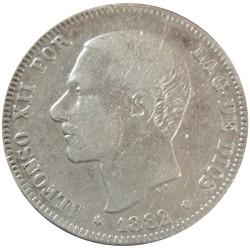 2 pesetas de 1882