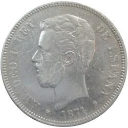 5 Pesetas de 1871