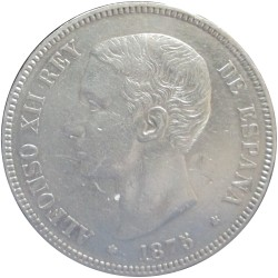 5 Pesetas de 1875