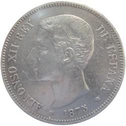 5 Pesetas de 1875 (Variante Oreja Rayada)