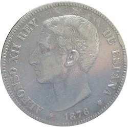5 Pesetas de 1876 (Variante Oreja Rayada)