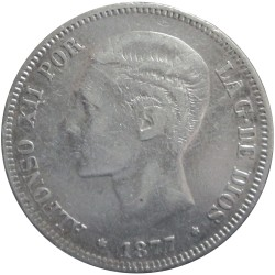 5 Pesetas de 1877
